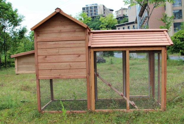 Large Urban Chicken Coop with Outdoor Runing