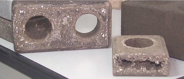 Tijolos reciclados fabricados em Lages, SC. (Fonte: Portal G1).