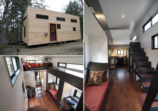A hOMe é uma casa móvel de cerca de 22 m2. (Fonte: Tiny House Build).