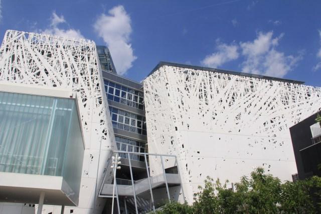 O envelope de cimento biodinâmico do Pavilhão Italiano, na Expo 2015. (Foto autoral).