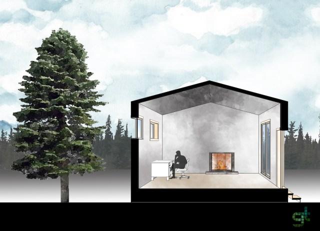 Casa típica de climas frios. (Greentopia)
