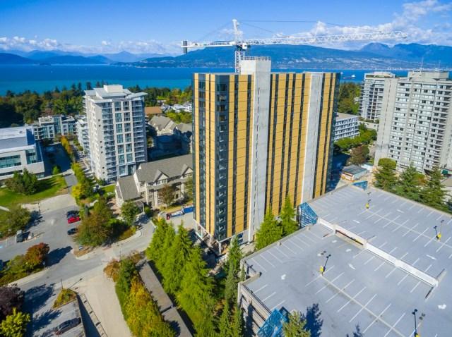 Brock Commons, o edifício dormitório com cerca de 300 apartamentos. (Fonte: Acton Ostry)