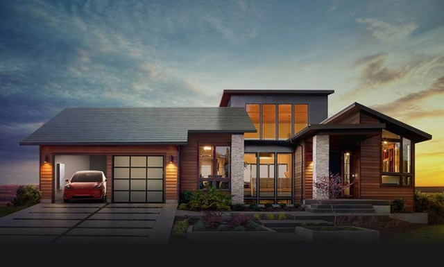 As telhas solares tipo shingles, da Tesla. (Fonte: If It's Hip, It's Here).