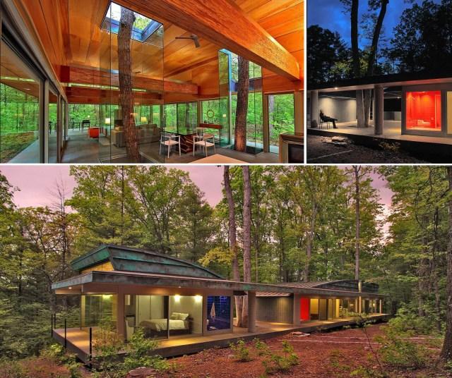A casa Hayes e suas árvores preservadas. (Fonte: Trendir).