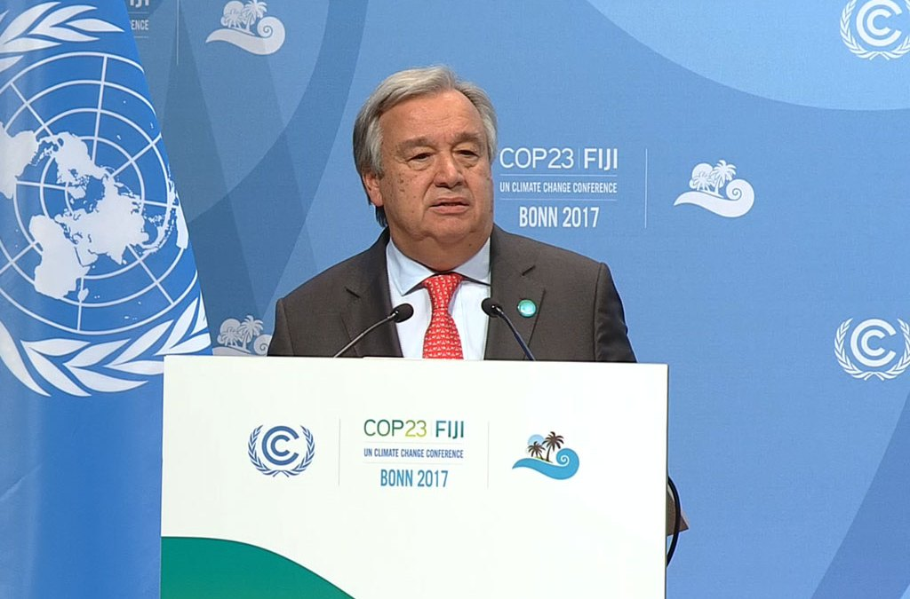UN chief António Guterres at COP23: Need leadership, partnership on climate action
