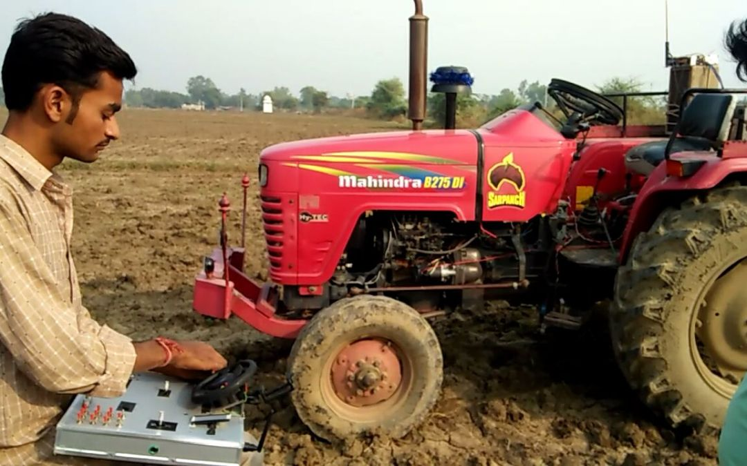 Indian innovator gifts father a driverless tractor: Green Agri Tech