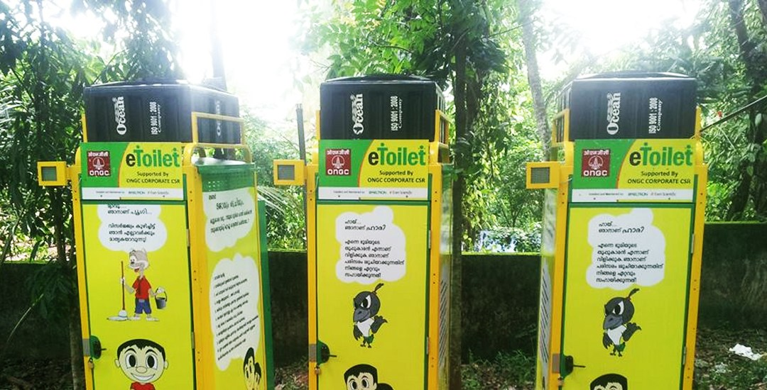 World's 1st solar eToilet creates power & fertilizer from waste in India