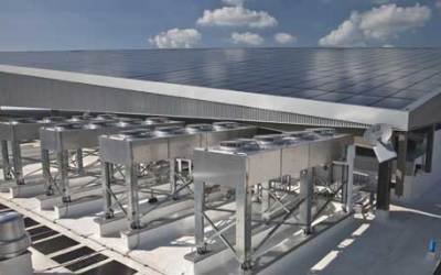 Use solar-powered data centers and cloud computing for sustainability