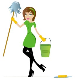 green cleaning lady