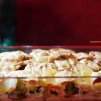 cremiges Kartoffel-Romanesco-Gratin