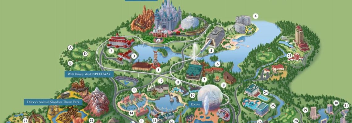 Disney World Map from Your Disney Vacation Planner