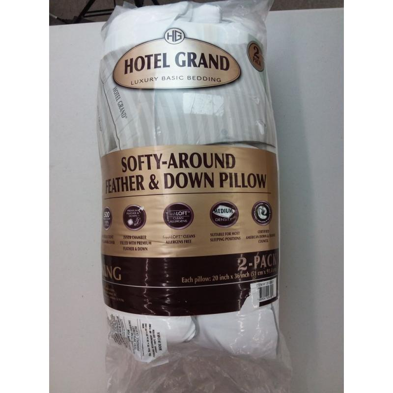 feather down pillow 2 pack softy around by hotel grand king