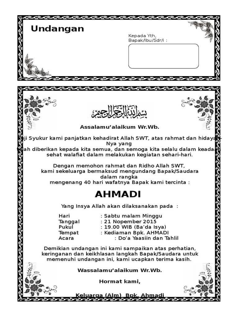 Download Isi Buku Yasin Dan Tahlil Cdr : download, yasin, tahlil, Template, Yasin, Greenwaypod