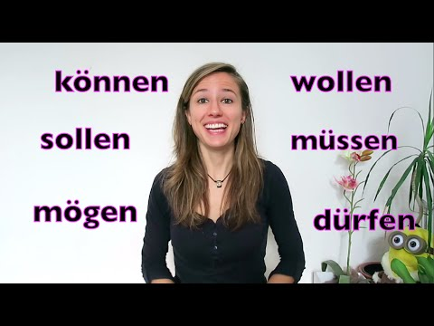 German Lesson 33 Introduction To German Modal Verbs (can, Must, Want Etc)  Green Way  Green