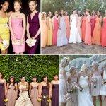 non-matching bridesmaids dresses