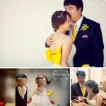 giant yellow bow wedding dress