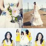 bridesmaids in yellow