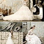 wedding dresses, vintage letters