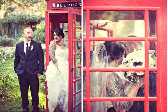 rancho_lomas_lyon bride and groom red phone booth