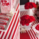 popcorn table red and white