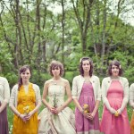 bridal party colorful dresses anthropologie