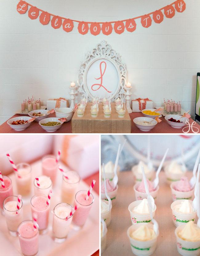Dessert Table Wedding Macaroon Cupcake Pink Flowers Bridal Shower