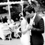 wedding first dance black and white photo