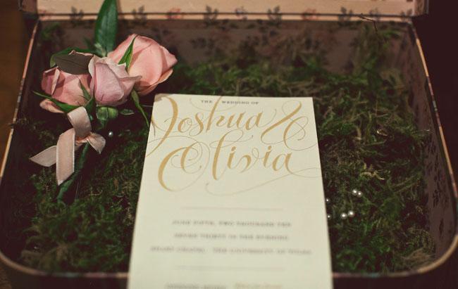 wedding invitation calligraphy