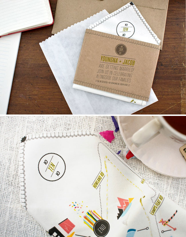 Handkerchief Wedding Invitations 01