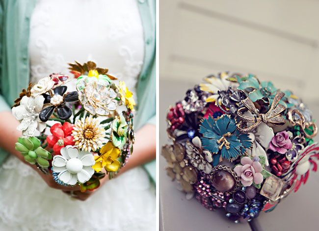 Wedding Trend: Vintage Brooch Bouquets