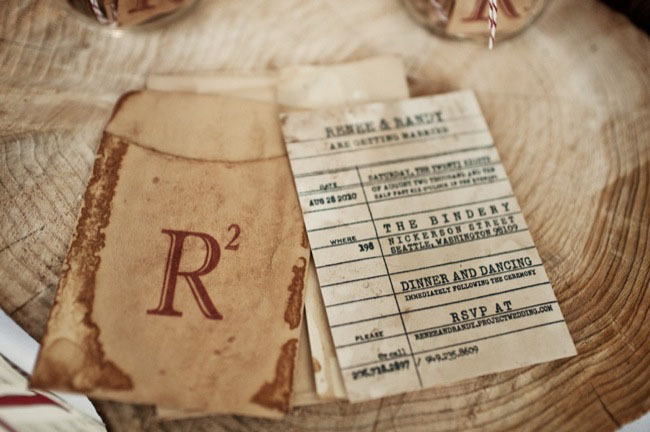Jane Austen Themed Wedding Invitations With Personalized Library