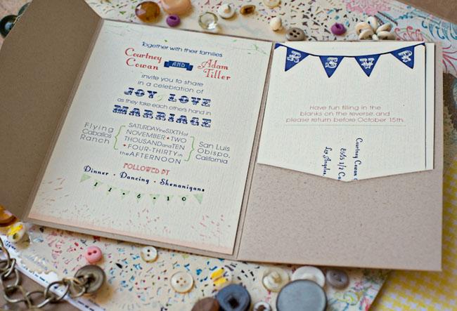 Wedding Invitation Bunting