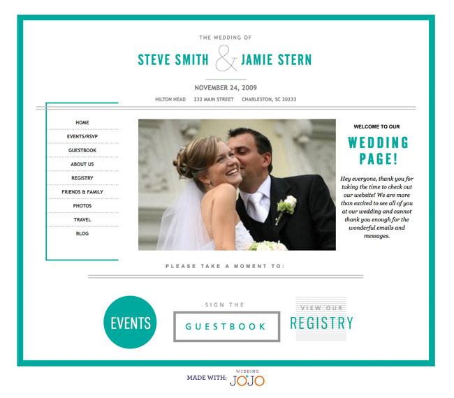 Wedding Websites from Wedding Jojo  Green Wedding Shoes