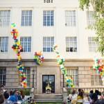 up balloon wedding ceremony