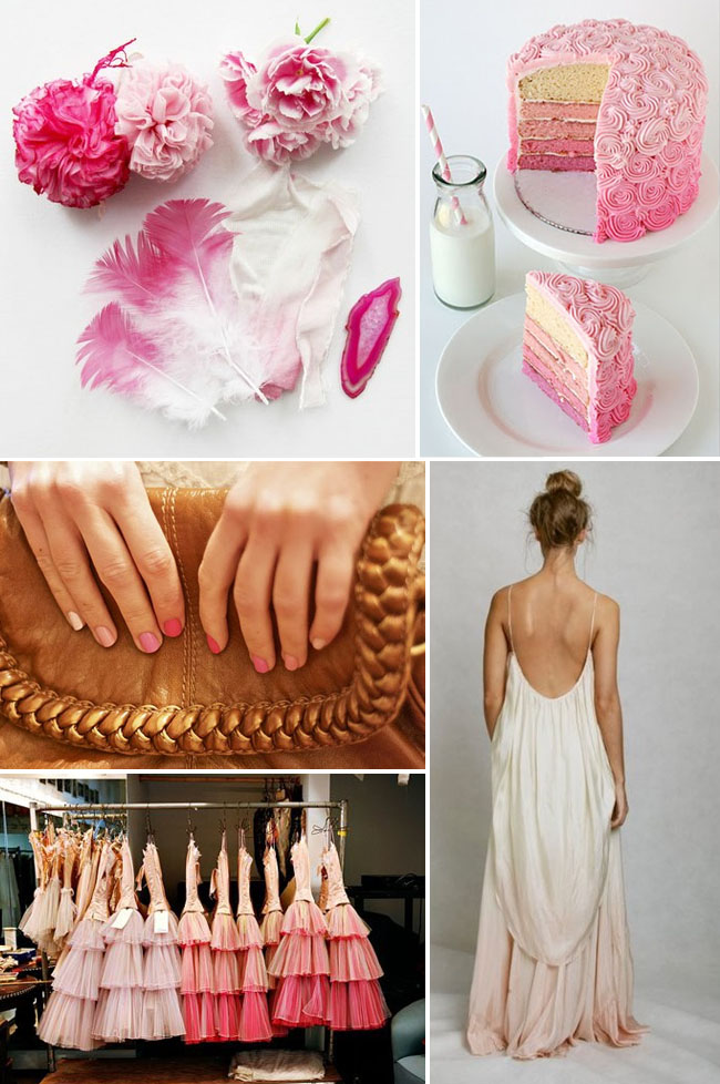Wedding Trend Ombre Details  Green Wedding Shoes