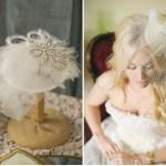 birdcage bridal hats