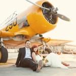 airplane hanger wedding