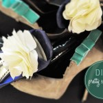 DIY shoe clips bows