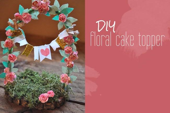 DIY floral cake topper