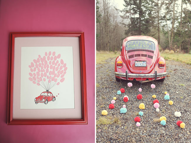 red beetle thumbprint guest book