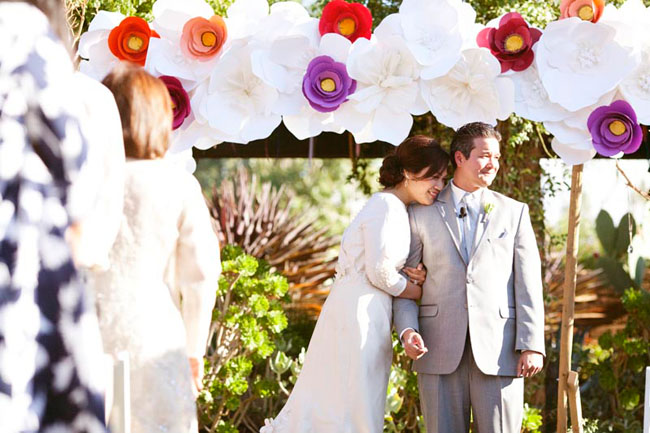 An Outdoor Wedding With Lots Of DIY Paper Details: Melissa