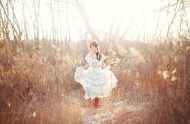 bridal session in the woods