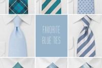 blue ties wedding