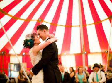 circus wedding first dance