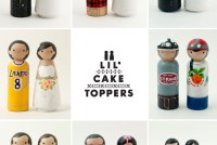 lil cake toppers wooden people