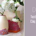 DIY Clay textured vase