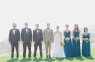 bridesmaids wearing teal