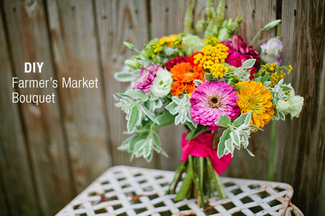 DIY farmer's market bouquet