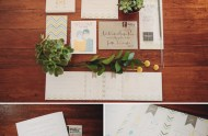 chevron wedding invitation suite
