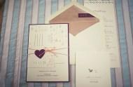 purple heart tag invitation